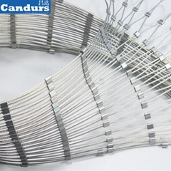 316 Flexible Stainless Steel Wire Rope Zoo Aviary Mesh