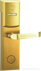 传统方款电子智能门锁