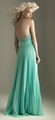 Strapless Beads Evening Dresse Green Red chiffon Bridesmaid dress Prom Gown E229 3