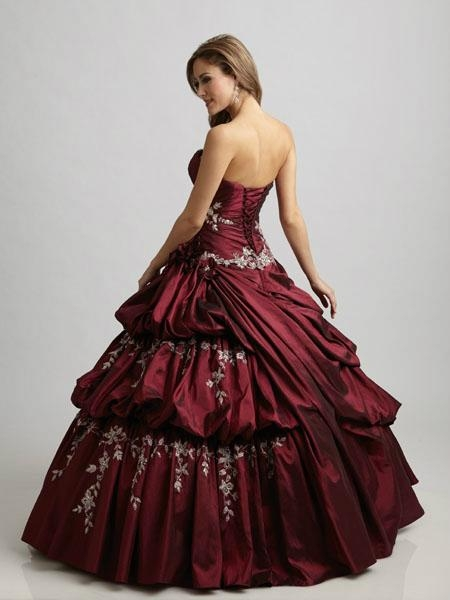 Strapless Applique Beaded Ruffled BlueTaffte Quincenera Dress Ball Gown Q303 3