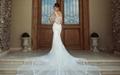 Mermaid Wedding Dresses Sheer Lace Bodice Galiala 2017 Bridal Wedding Gowns H157 2