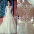 Long Sleeves Wedding Ball Gown Tulle
