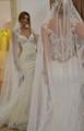 Mermaid Wedding Dresses Sheer Lace Bodice Galiala 2017 Bridal Wedding Gowns H157 4