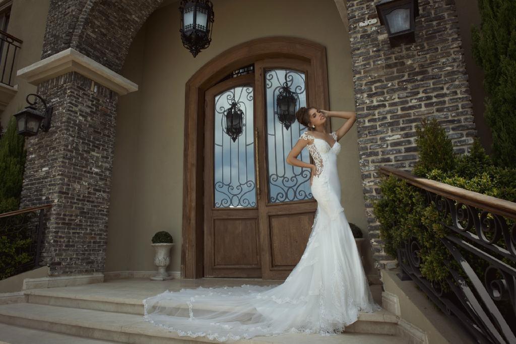 Mermaid Wedding Dresses Sheer Lace Bodice Galiala 2017 Bridal Wedding Gowns H157 5
