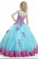 Multi Colors Flower Girl Prom Dresses Lace Edge Girls Pageant Ball Gowns F1487 4