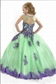 Multi Colors Flower Girl Prom Dresses Lace Edge Girls Pageant Ball Gowns F1487 3