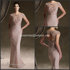 Lace Mother of the Bride Dresses Formal Gowns Maid of Honour Bridesmaid Dresses