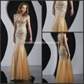 Crystals Beads Mermaid Evening Dresses