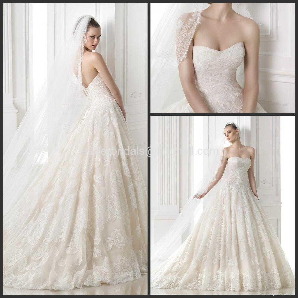 Lace Wedding Dresses 2017 Luxury Bridal Ball Gowns H14688 1