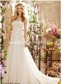 Lace Chiffon Bridal Formal Gowns Long Beach Wedding Dress H256