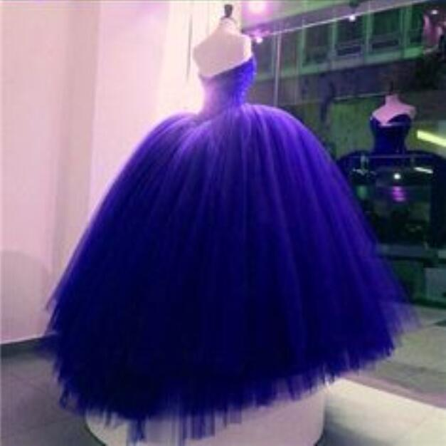 Crystals Beads Prom Dresses  Pageant Blue Custom Prom Party Dresses  1