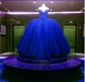 Crystals Beads Prom Dresses  Pageant Blue Custom Prom Party Dresses  2