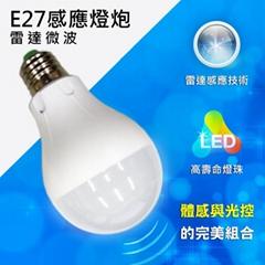 LED E27 7W雷达微波感应式 灯泡