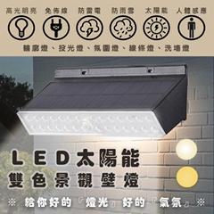 【太陽能】LED太陽能雙色景觀壁燈