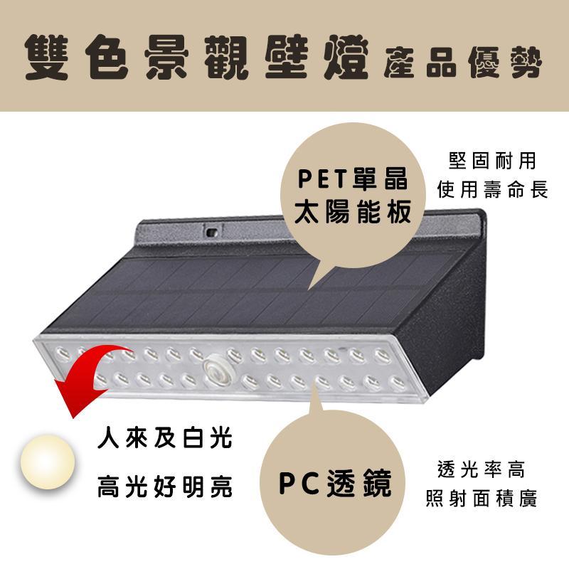 【太阳能】LED太阳能双色景观壁灯 3