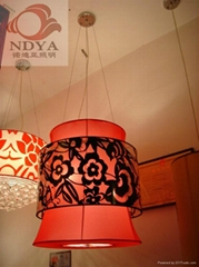 花紋布藝燈