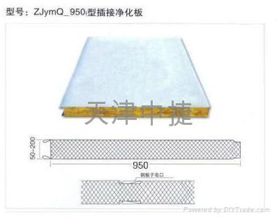 岩棉夹芯墙面板  2