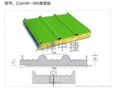 岩棉夹芯墙面板  4