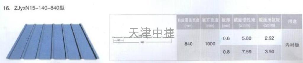 中捷咬合式彩钢屋面板  4