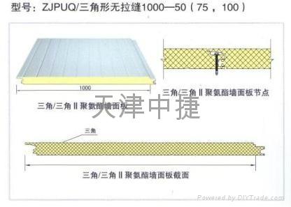 聚氨酯夹芯墙面板  1