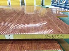 A级防火岩棉夹芯聚氨酯封边彩钢板