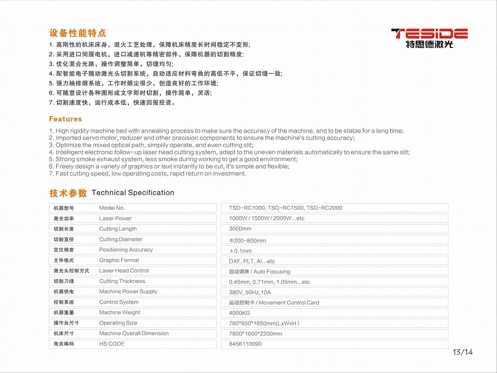 TSD-RC1500W激光圆模切割机 2