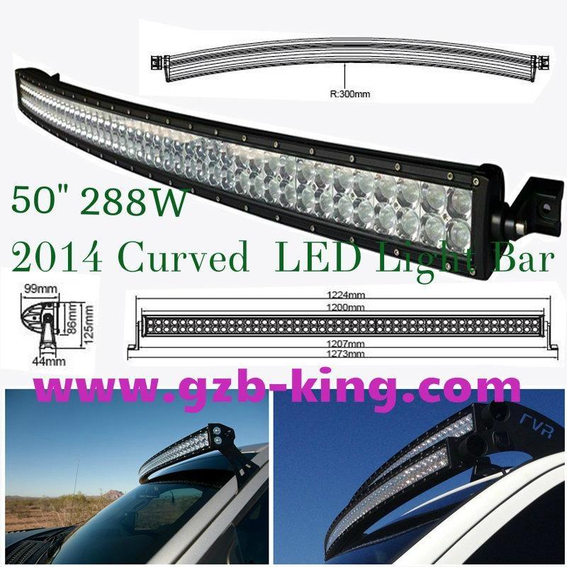 "50"" Curved  LED Light Bar 1"