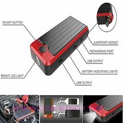 Portable 12V Power Bank Car Jump Starter