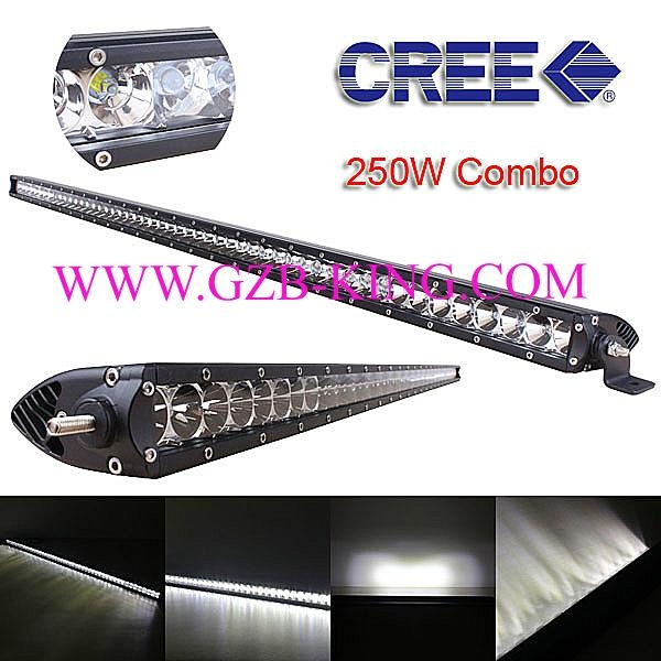 Super Slim CREE 250W Single Row Combo LED Light Bars 1