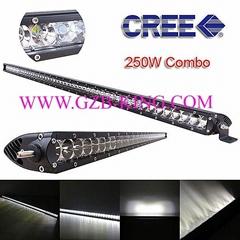 Super Slim CREE 250W Single Row Combo LED Light Bars