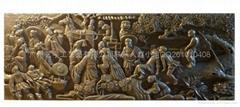 八仙過海砂岩浮雕壁畫