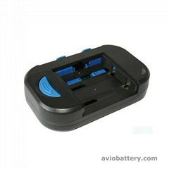 Universal camera battery charger for digital camera batteries