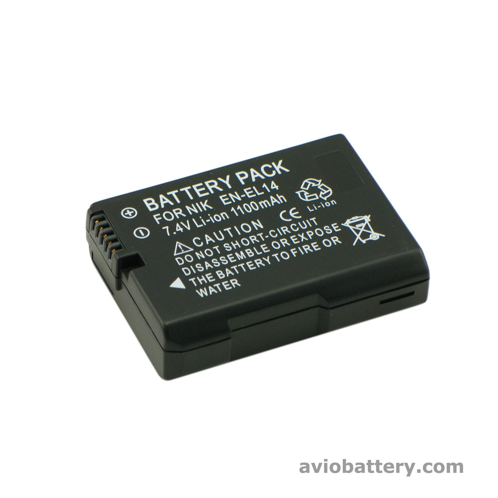 Camera Battery En El14 For Nikon D3300 D5500 P7800 Avio