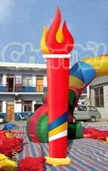 廣州白雲區充氣立柱新型火炬充氣立柱
