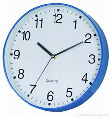 12Inch Blue Round Wall Clock