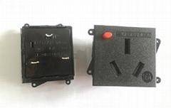 16A新國標插座BS-G16-2AB帶防脫卡扣帶防護門