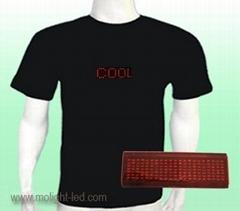 Scrolling Text LED T-shirt