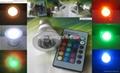 3W RGB LED Spotlight Bulbs E27