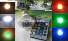 3W RGB LED Spotlight Bulbs E27