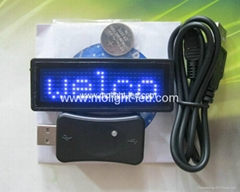 Red Programmable Scrolling LED Badge Tag
