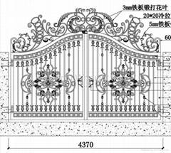 wrought iron gate HT-G015