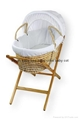 baby moses basket with dressings and stand