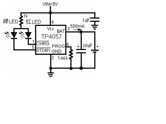TP4057--双灯指示防反接充电IC 1
