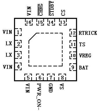 TP5100 2A开关降压 8.4V/4.2V 锂电池充电芯片 1