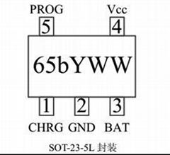 TP4065,600MA线性锂电充电器