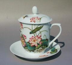 景德鎮陶瓷辦公杯供應選購訂製定做加工