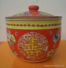 供應加工陶瓷中國紅泡菜壇