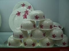 生產供應批發景德鎮陶瓷骨質瓷餐具