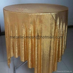 Aluminum Sequins Fabric Mesh Table Cloth