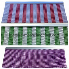 Decorative Aluminum Insect & Fly Screen Door Curtain